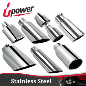 2 25 2 5 3 4 5 Inlet Stainless Steel Chrome Tailpipe Car Exhaust Tip