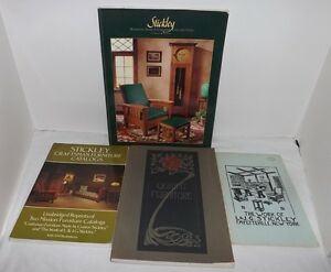 Group Of 4 Books And Reproductions Catalogs Of Stickley Craftsman Furniture