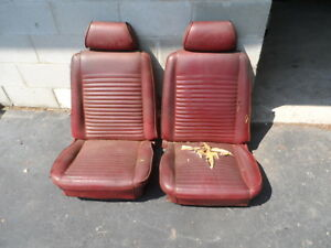 1969 1970 69 70 Mercury Cougar Xr7 Front Bucket Seats Red Fits Mustang