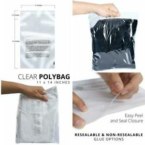 1 5 Mil Clear Poly Bags With Suffocation Warning Plastic Baggie Packing Shipping