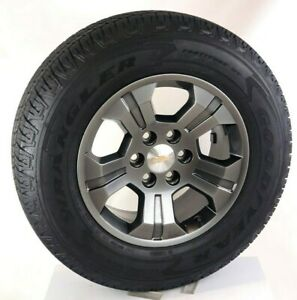 New Takeoff Charcoal Chevy Tahoe Silverado Suburban 18 Wheels Goodyear Tires