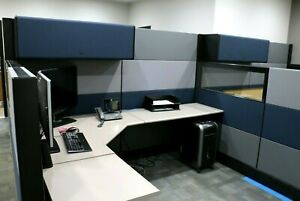 Office Cubicles Herman Miller Ethospace 6x8 Cubicles Cluster Or 4 Used