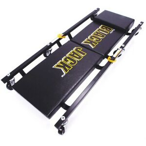 6 Wheel Creeper Heavy Duty 2 Piece Wheeled Rolling Board Shop Garage Roller Seat