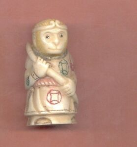 Monkey King God 2 Inch Okimono Stunning Hand Carved 444a B Netsuke