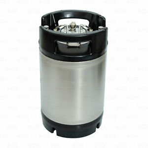 2 5 Gallon Ball Lock Corny Keg Stainless For Beer Coffee Nsf Dual Rubber Handle