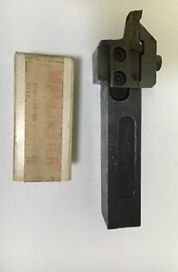 Manchester Indexable Lathe Tool Holder 4 New Grooving Inserts 1 Shank