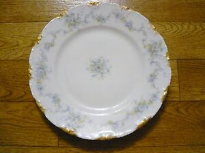 Theodore Haviland Limoges Scalloped Rim Gold Gild 4 Plate Antique Victorian 1894