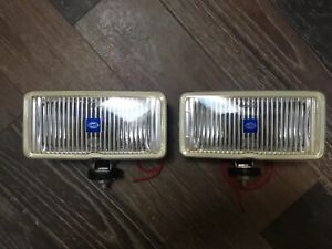 2 Nice Used Hella 301 123 680 Fog Lamps 7 5x3 75 Work Great Made In Germany