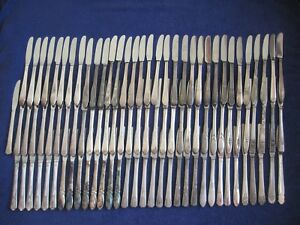 Vtg Lot 100 Silverplate Hollow Handle Grille Knives Nomono Most Duplicates
