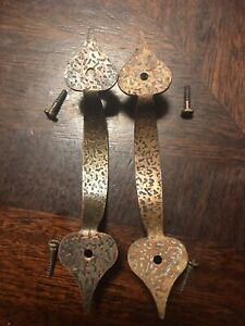 Vintage Copper Cabinet Hardware Handles Drawer Pulls Set Of Two