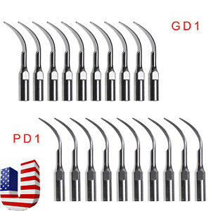 20pcs Usa Dental Ultrasonic Scaler Tips Perio For Satelec Dte Handpiece Gd1 Pd1