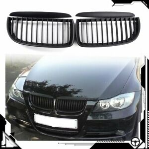 For Bmw E90 325i 328i 328xi 335i 335xi 330i 330xi Front Matte Black Grille Grill