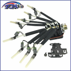 New Fuel Spider Injector W Bracket For Chevy Pickup Truck V8 5 0l 5 7l
