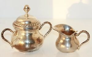 Sugar Covered Dish And Cream Jug From 800 Silver