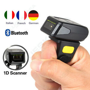Bluetooth Ring Finger Laser Barcode Scanner Data Reader For Android Ios Windows