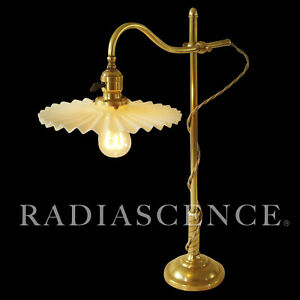 Early Miller Industrial Machine Age Brass Table Lamp 1900 S Oc White Era Faries