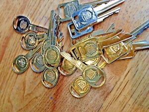 Vintage Gold Cadillac Ignition And Door Keys 20 Cut Use As Decorations