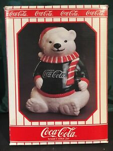 1995 CHRISTMAS LIMITED EDITION 10.000 CAVANAGH COKE COCA COLA COOKIE JAR NEW