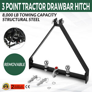 3 Point Bx Trailer Hitch Compact Tractor Drawbar Attachments High Quality Black