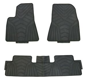 Floor Mats For 2017 Tesla Model 3 Custom Fit Cut Black Rubber All Weather