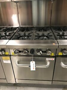 Atosa Ato 4b Cookrite 24 4 Burner Gas Range W Oven Restaurant Equipment