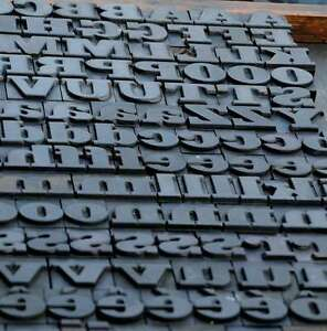 Letterpress Wood Printing Blocks 182pcs 1 06 Tall Wooden Type Woodtype Alphabet