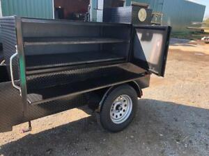 Mini Barn Door Bbq Smoker Grill Trailer Front Storage Food Truck Concession