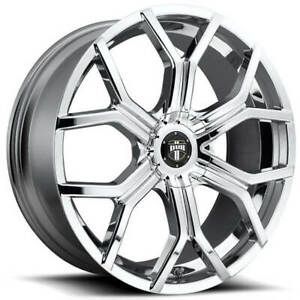 4 Set 24 Dub Wheels Royalty S207 Chrome Rims Fs
