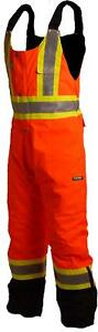 Terra 116507orxl High visibility Lined Reflective Safety Bib Overall Orange Xl