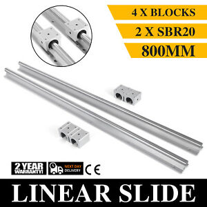 2xsbr20 800mm Linear Rail Shaft Rod 4sbr20 Block Bearing Aluminium Slide Guide