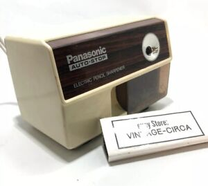 Vintage Panasonic Auto stop Electric Pencil Sharpener Kp 110 Made In Japan Works