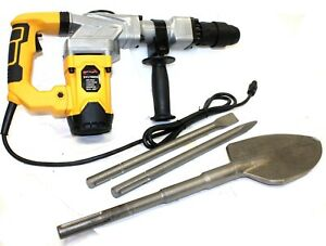 Electric Sds max Hammer Drill 4000bpm 1300w Demolition W shovel Chisel Bits