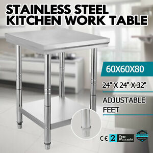 24 X 24 Stainless Work Prep Table Commercial Kitchen Restaurant New