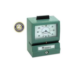 Model 125 Analog Manual Print Time Clock With Month date 0 12 Hours minutes