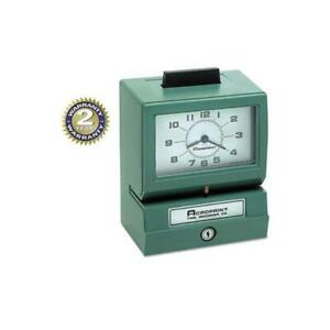 Model 125 Analog Manual Print Time Clock With Month date 0 23 Hours minutes