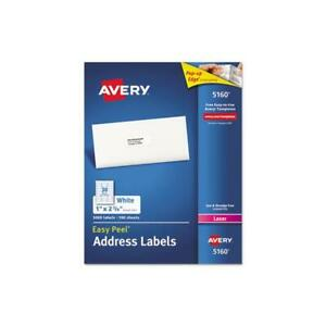 Easy Peel Mailing Address Labels Laser 1 X 2 5 8 White 3000 box