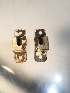 Vintage Brass Curtain Rod Holder Brackets Set Of 2