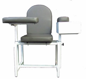 Blood Drawing Chair 01002 2 Adjustable Cabinet arms Includes Locking Box