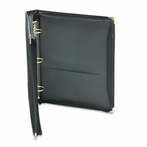 Classic Collection Zipper Ring Binder 3 Rings 1 5 Capacity 11 X 8 5 Black