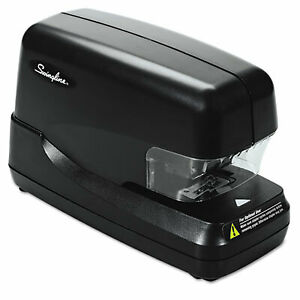 High capacity Flat Clinch Electric Stapler 70 sheet Cap Black