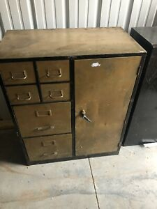 Vintage Cole Steel Cabinet 6 Draw Cabinet 3 Shelves Amazing Industrial