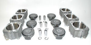 Porsche 993 Twin Turbo 3 8 Pistons Cylinder 102mm Mahle 99310691551 Bore In