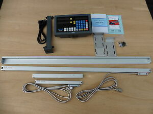 Digital Read Out System Kit For Lathe 2 axis Fit 16 17 18 19 20 x60 Lathes