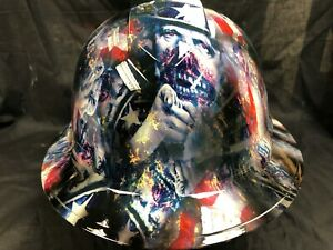 New Full Brim Hard Hat Custom Hydro Dipped Uncle Sam Free Shipping