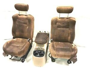 2002 F 150 King Ranch Driver Passenger Front Rear Seat Set W Center Consoles