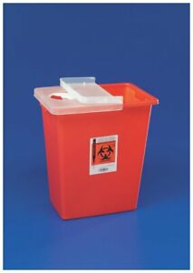 Sharpsafety Sharps Container With Hinged Lid Red 18 Gallon Part No 8991 1 ea