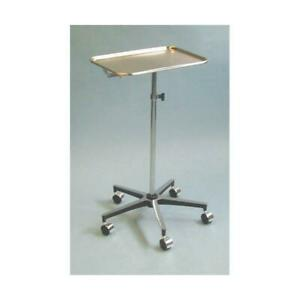Drive Medical Mayo Instrument Stand W 5 whl Base W center Post Tray Part No 1307