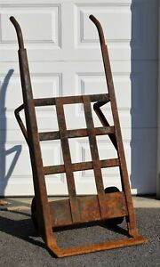 Vintage Antique Industrial Dolly Hand Cart Farmer Coffee Table 1932