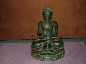 Large Antique Asian Bronze Seated Buddna 22 Height
