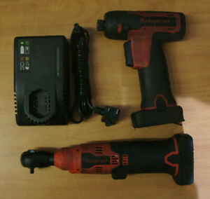 Snap On 14 4v Cordless Cts761a Screwdriver Ctr714ao Ratchet W Charger Batteries
